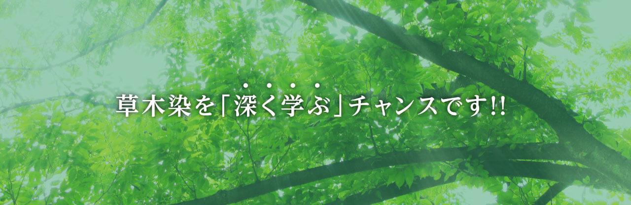 草木染を「深く学ぶ」チャンスです!!