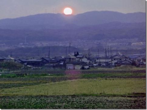 京都・井手町の夕陽