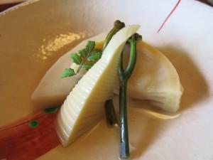 筍と蕨の炊き合わせ