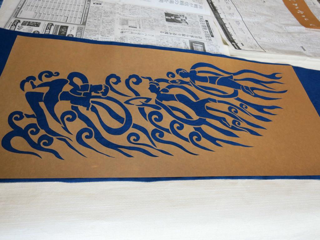 藍抜染 型紙
