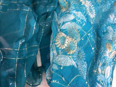 藍の生葉で草木染。シルクストールと丹後ちりめん生地