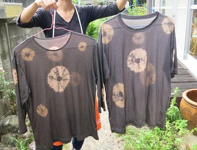 柿渋で染めたTシャツ@草木染教室