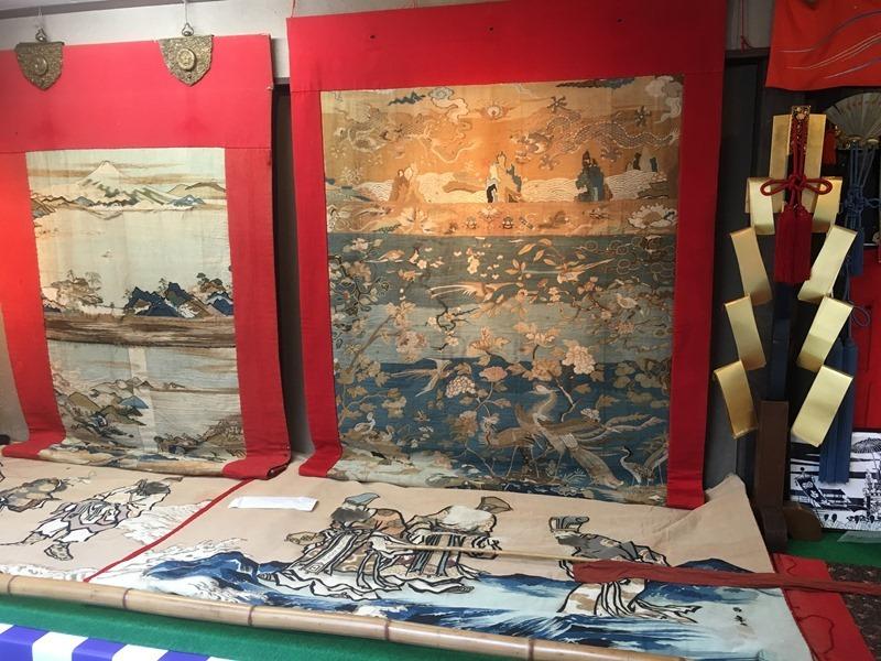 祇園祭・占出山の中国風綴織の懸装品