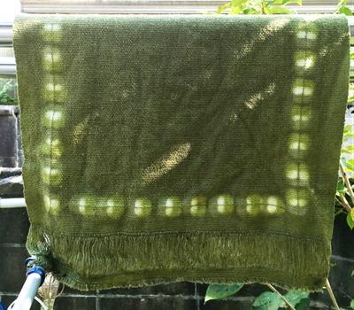赤紫蘇(しそ)で草木染したランチョンマット