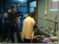 NHK京都テレビの「京のええとこ連れてって」工房での撮影の様子