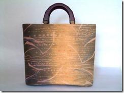 刺繍入り草木染バッグ