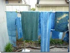 藍染、縫い絞り