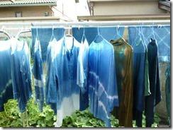 藍染のTシャツ