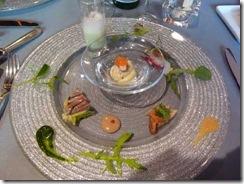 前菜 「盛合せ」 秋刀魚のテリーヌやノドグロのエスカベッシュなど