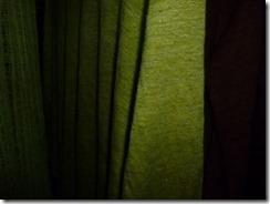 人参の葉で草木染した麻布