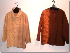 2008年野の花工房展示会、嶋屋画廊、草木染、洋服