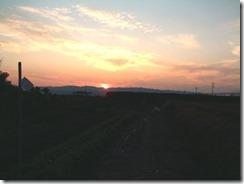 井手町の夕陽
