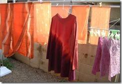 蘇芳(スオウ)と梅で草木染したTシャツ、麻布