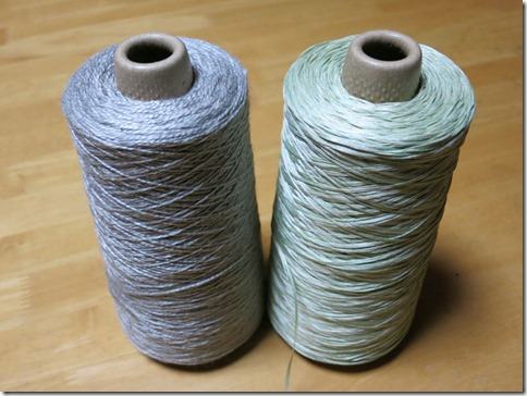 ハーブで草木染したシルク糸(月桂樹とフェンネル)